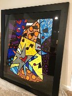 A Star is Born 2002 32x40 Huge Original Painting by Romero Britto - 2