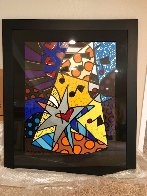 A Star is Born 2002 32x40 Huge Original Painting by Romero Britto - 4