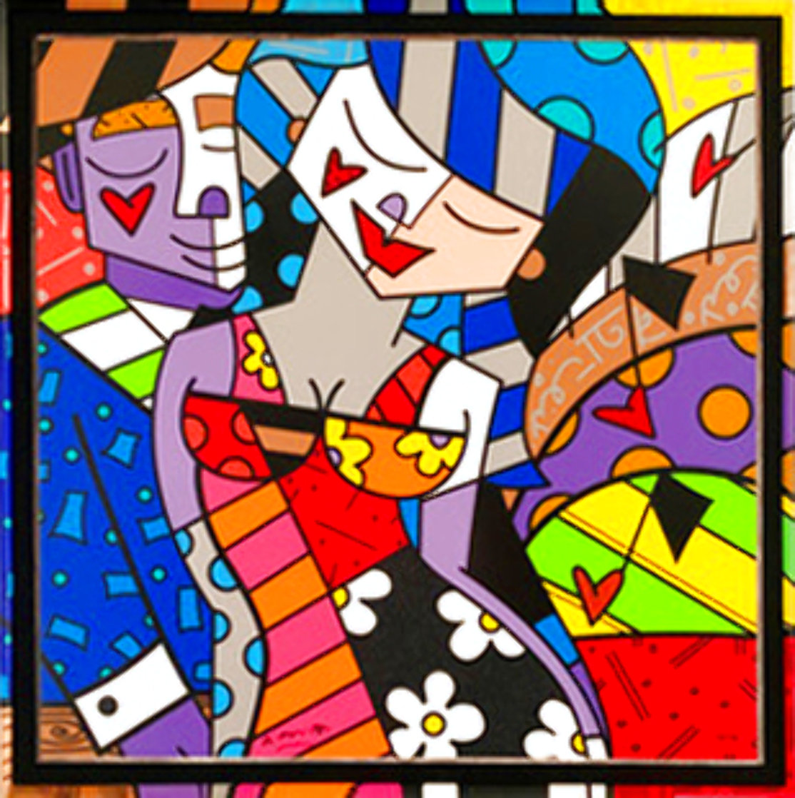 Tonight 2007 Huge 49x31 Limited Edition Print by Romero Britto