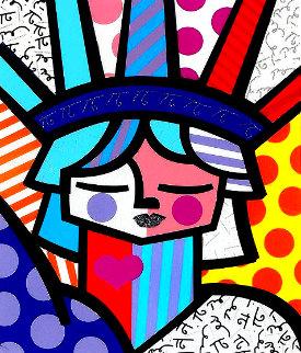 Free 2007 3-D Limited Edition Print - Romero Britto