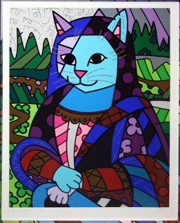 Mona Cat 2010 Limited Edition Print by Romero Britto