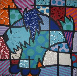 Kasha 1997 48x48 Original Painting - Romero Britto