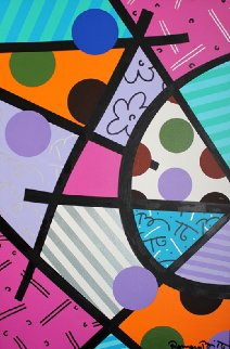 Israel Landscape 2001 44x32 Original Painting by Romero Britto