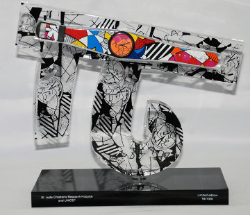 Children of the World Acrylic Sculpture Sculpture by Romero Britto