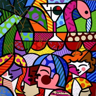 News Cafe, South Beach,  Miami 2009 Limited Edition Print by Romero Britto