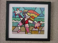 Golden Beaches Limited Edition Print by Romero Britto - 1
