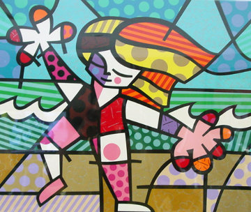 Golden Beaches Limited Edition Print - Romero Britto