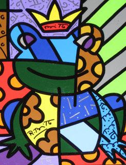 Love Prince 2003 13x10 Original Painting - Romero Britto
