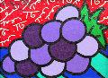 Untitled (Grapes) 2004 14x12 Original Painting - Romero Britto