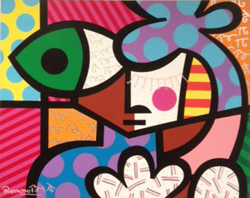 Tim 1993 24x30 Original Painting - Romero Britto