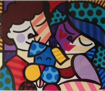 Three of Us 2005 Limited Edition Print by Romero Britto