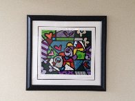 Untitled Lithograph Limited Edition Print by Romero Britto - 1