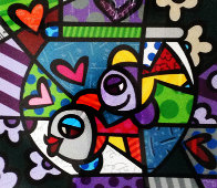 Untitled Lithograph Limited Edition Print by Romero Britto - 0