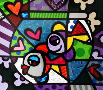 Untitled Lithograph Limited Edition Print - Romero Britto