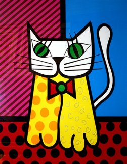 Cat Limited Edition Print by Romero Britto