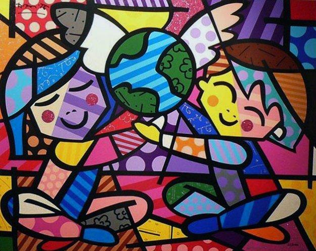Happy World by Romero Britto