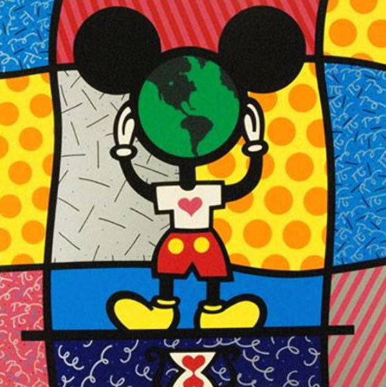 Mickey's World 1996 Limited Edition Print by Romero Britto
