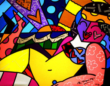 Untitled (Beach) Limited Edition Print by Romero Britto