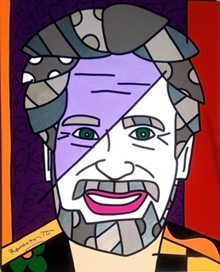 Peter B  2005 30x24 Original Painting by Romero Britto