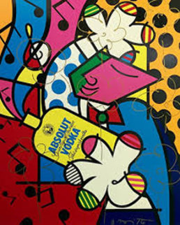 Absolut Britto II Limited Edition Print - Romero Britto