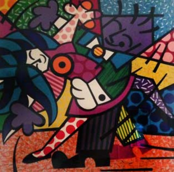 Dancers 1990 Limited Edition Print by Romero Britto