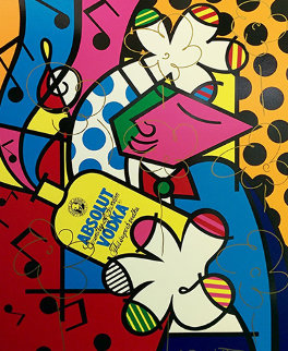 Absolut Britto II AP 1993 Embellished Limited Edition Print - Romero Britto