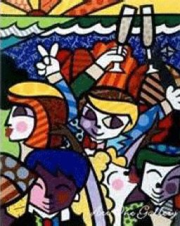 Celebration on Panel 2001 Limited Edition Print - Romero Britto