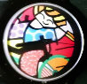 Girl on a Bicycle Watch 1993 Jewelry by Romero Britto - 0