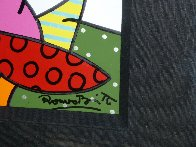House With Tree on Left 1997 34x41 Huge Original Painting by Romero Britto - 6