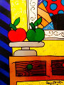 Two 2000 42x35 Works on Paper (not prints) - Romero Britto