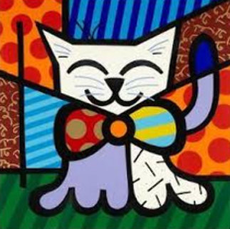 L.A. Cat 1995 Limited Edition Print by Romero Britto