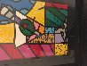 Martini Glass With Olive 23x20 Original Painting by Romero Britto - 3