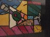Martini Glass With Olive 23x20 Original Painting by Romero Britto - 4