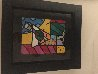 Martini Glass With Olive 23x20 Original Painting by Romero Britto - 6