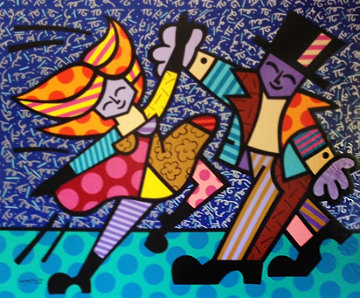 Electra AP 1995 Embellished Limited Edition Print - Romero Britto