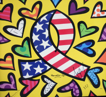What More Can I Give? 2003  Limited Edition Print - Romero Britto