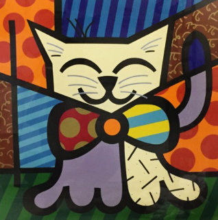 L.A. Cat 1995 Limited Edition Print - Romero Britto