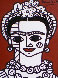 Brown Frida 2002 22x19 Frida Kahlo Original Painting by Romero Britto - 0