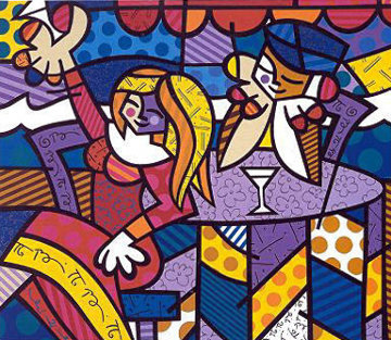 Doing Lunch AP 2001 Limited Edition Print by Romero Britto