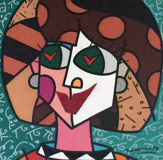In Love 2007 31x31 Original Painting by Romero Britto