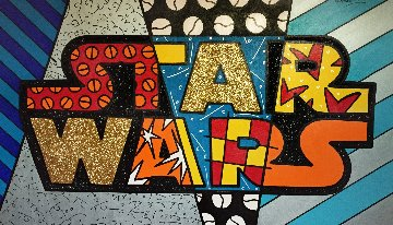 Star Wars 2011 44x68 Super Huge Original Painting - Romero Britto