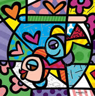 Fishbowl  Limited Edition Print by Romero Britto