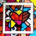 Flying Heart 2007 Limited Edition Print - Romero Britto