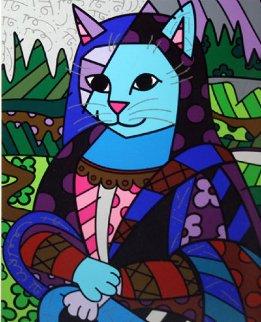 Mona Cat 2010 Limited Edition Print by Romero Britto