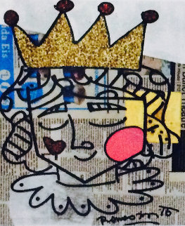 Little Prince 2015 22x25 Newsprint Original Painting by Romero Britto