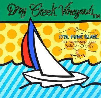 Dry Creek Vineyard 48x48 Original Painting by Romero Britto