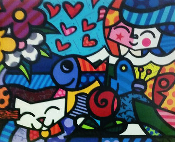 Squeaki Britto's World 2005 Limited Edition Print - Romero Britto
