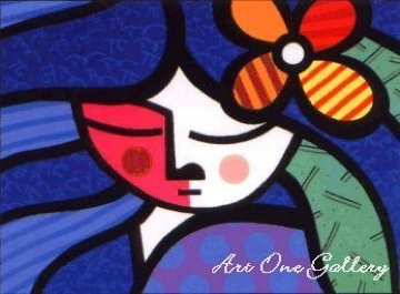 Girl With Flower, Country Girl, All About You 1995 Set of  3 Limited Edition Print - Romero Britto