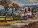 Hilltop Village  Original Painting - Slava Brodinsky
