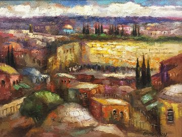 Old City 41x51 Super Huge Original Painting - Slava Brodinsky